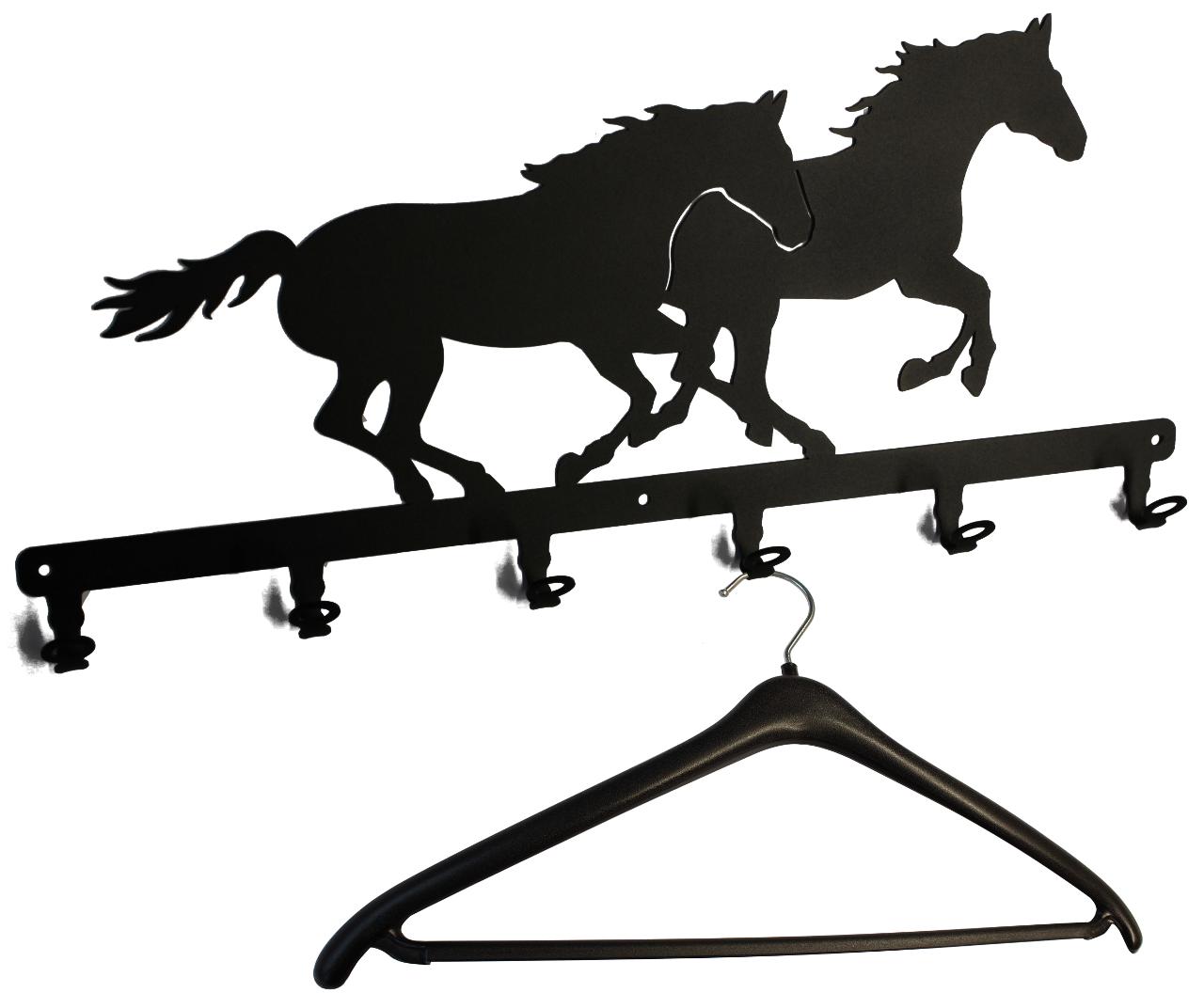 wandgarderobe 2 pferde wandgarderobe schwarz. Black Bedroom Furniture Sets. Home Design Ideas