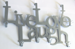 Türgarderobe Live Love Laugh silber